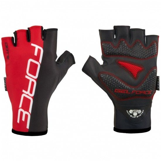 Force Dots Short Finger Cycling Gloves Black/Red (905247)