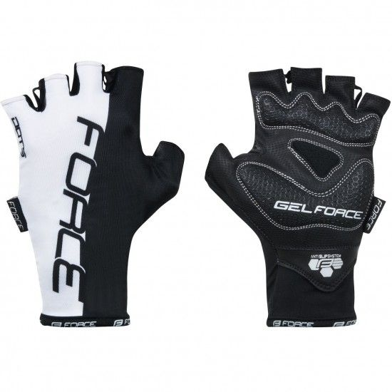 Force Dots Short Finger Cycling Gloves Black/White (905246)