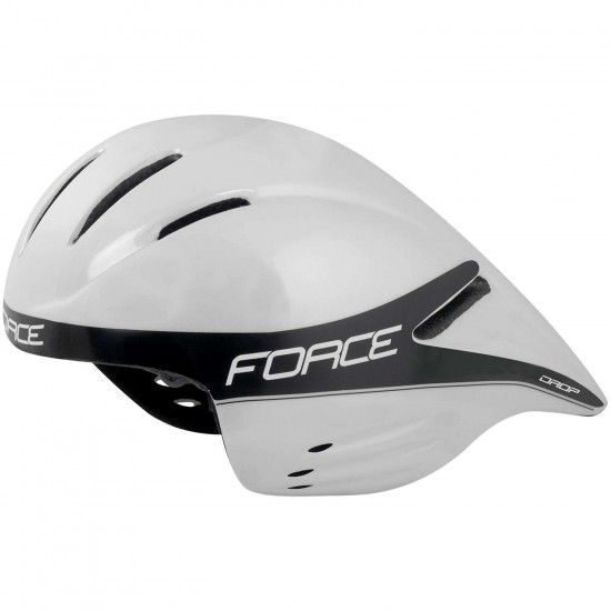Force Drop Aero Time Trial Helmet White (901850)