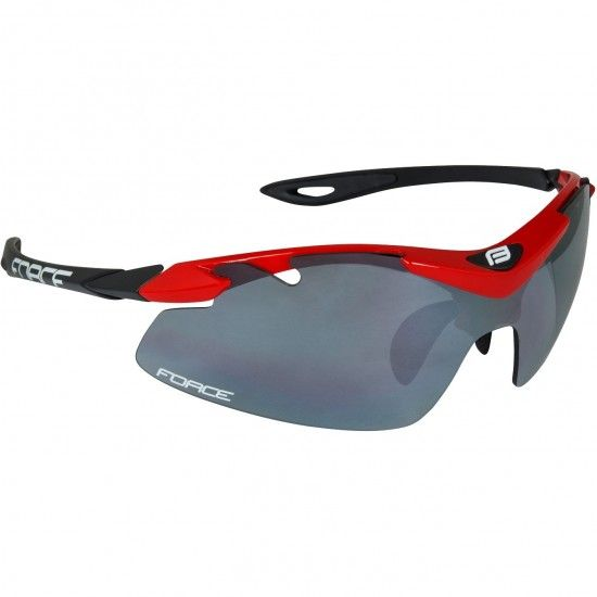 Force Duke Bike-/ Sport Eyewear Red/Black + 2 Extra Lens (91023)