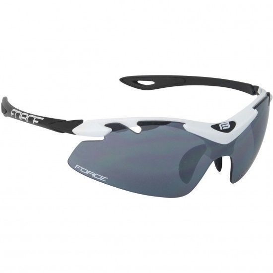 Force Duke Bike-/ Sport Eyewear White/Black + 2 Extra Lens (91021)