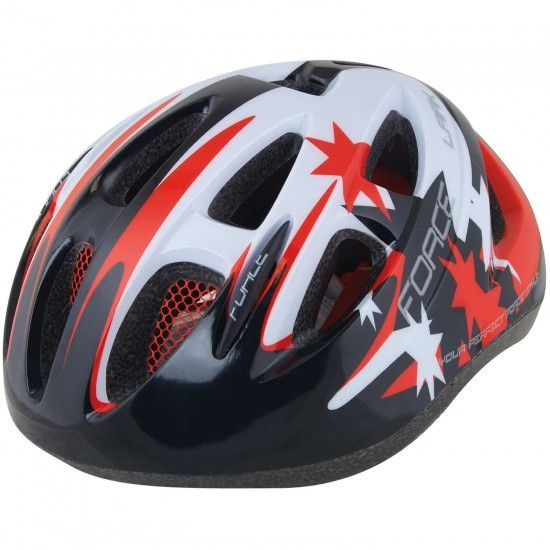 Force Lark Children Cycling Helmet Black/Red/White (902214)