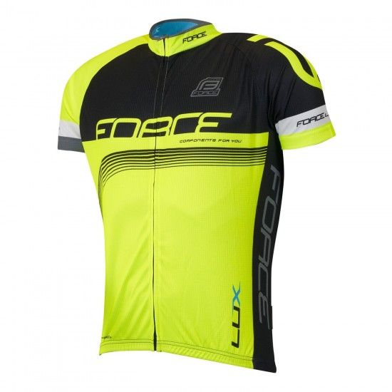 Force Lux Short Sleeve Cycling Jersey Black/Fluo Yellow (900131)