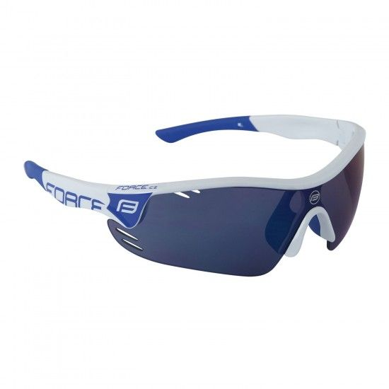 Force Race Pro Bike-/ Sport Eyewear White/Blue + 2 Extra Lens (909391)