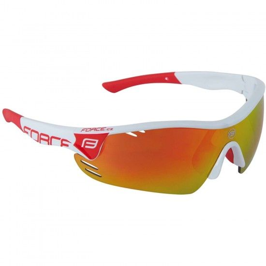 Force Race Pro Bike-/ Sport Eyewear White/Red + 2 Extra Lens (909392)