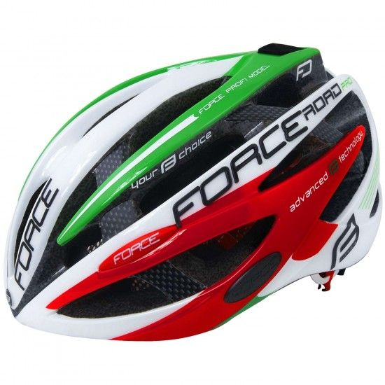 Force Road Pro Italy Cycling Helmet Red/Green (902653-55)