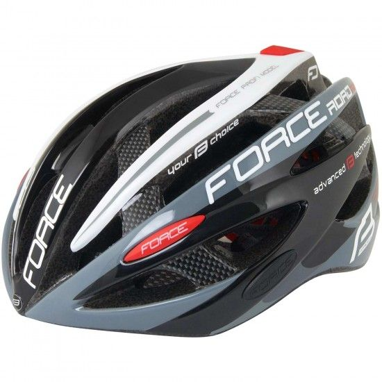 Force Road Pro Cycling Helmet Black/White (902641-42)