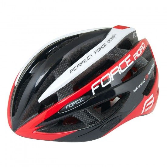 Force Road Cycling Helmet Black/Red/White (902607-08)