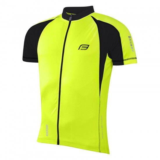 Force T10 Short Sleeve Cycling Jersey Yellow Fluo/Black (9001035)