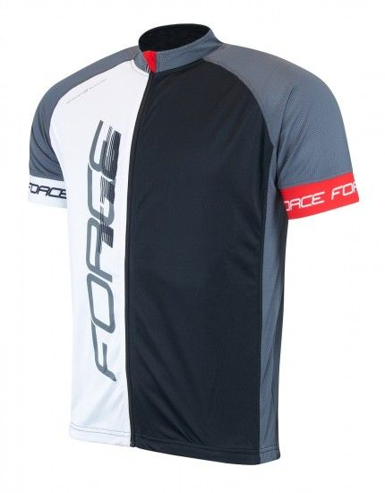 Force T16 Short Sleeve Cycling Jersey Black/White (900135)