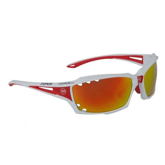 Force Vision Bike-/ Sport Eyewear White/Red + 2 Extra Lens (90971)