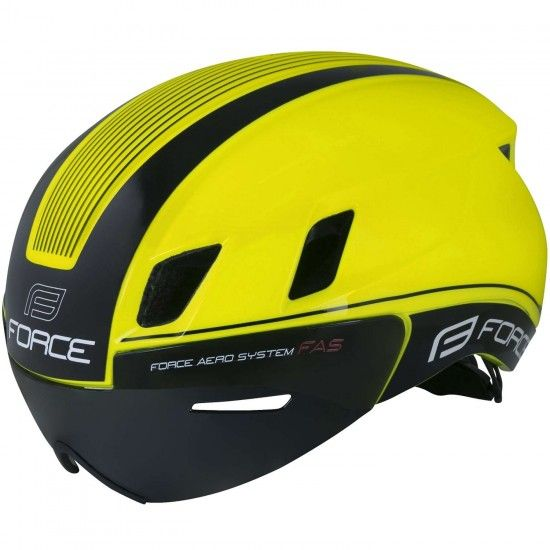 Force Worm Cycling Helmet With Visor Fluo Yellow (901891)