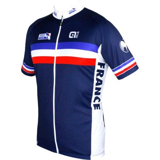 Alé France 2018 Short Sleeve Cycling Jersey (Long Zip) - Ale National Cycling Team