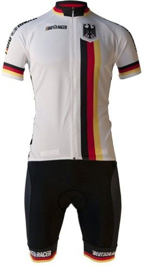 Bioracer Germany 2019 Set - (Jersey Long Zip + Strap Trousers) - National Cycling Team