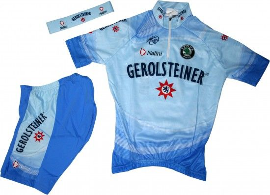 Nalini Gerolsteiner 2007 Cycling Set For Kids (Jersey, Trousers, Headband) - Professional Cycling Team