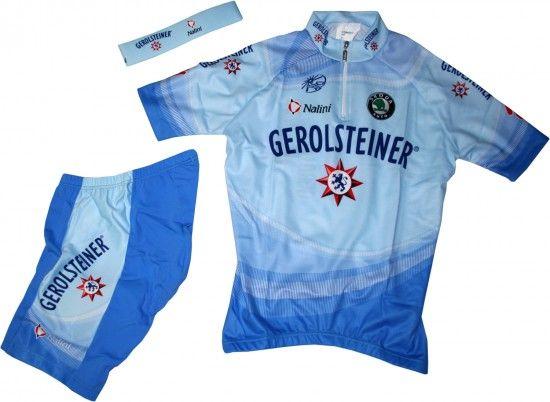 Nalini Gerolsteiner 2008 Cycling Set For Kids (Jersey, Trousers, Headband) - Professional Cycling Team