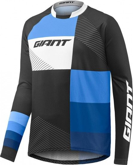 Giant Clutch Long Sleeve Cycling Jersey Black/Blue (E17)