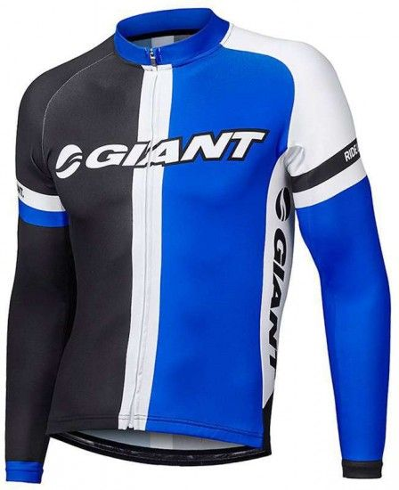 Giant Race Day Long Sleeve Jersey Black-Blue
