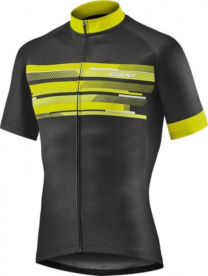 Giant Rival Short Sleeve Cycling Jersey Black/Yellow (E19)