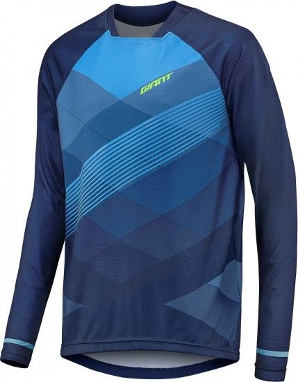 Giant Transfer Long Sleeve Cycling Jersey Blue (E18)