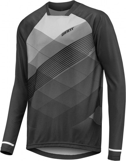 Giant Transfer Long Sleeve Cycling Jersey Grey (E18)