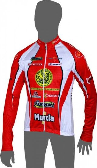 Inverse Heraklion Kastro-Murcia Long Sleeve Jersey - Professional Cycling Team