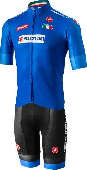Castelli Italia 2018/19 Set - (Jersey Long Zip + Strap Trousers) - National Cycling Team