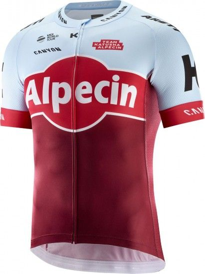 Katusha Alpecin 2018 Short Sleeve Cycling Jersey - Professional Cycling Team