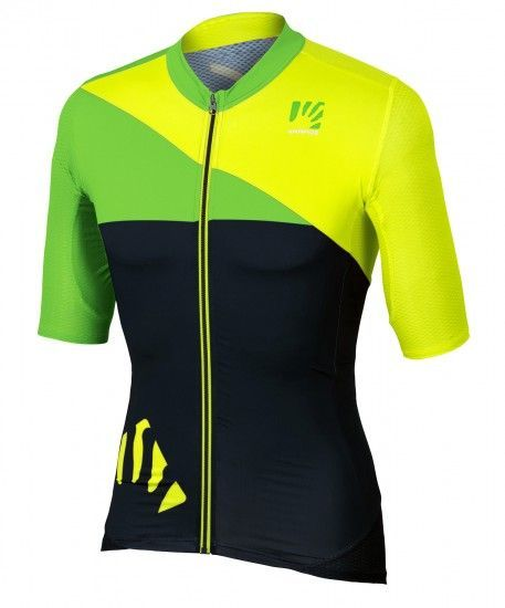 Karpos Verve Short Sleeve Cycling Jersey Yellow Fluo/Black