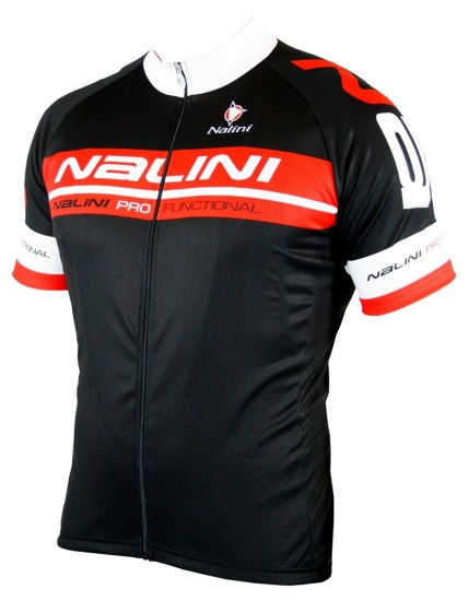 Nalini King Size Kentaro Short Sleeve Cycling Jersey Black/Red (E19-5100S)