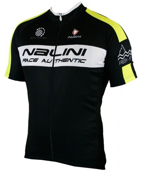 Nalini King Size Lucster Short Sleeve Cycling Jersey Black/Yellow Fluo (E19-5000S)