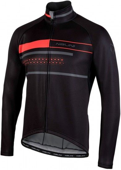 Nalini King Size Pro Ws Classica Jkt Winter Cycling Jacket Black/Red (I18-4000)