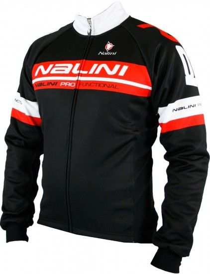 Nalini King Size Tenky Winter Cycling Jacket Black/Red (E19-5100S)