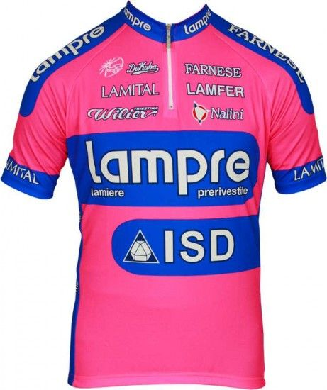 Nalini Lampre 2012 Professional Cycling Team - Cycling Jersey With Short Zip