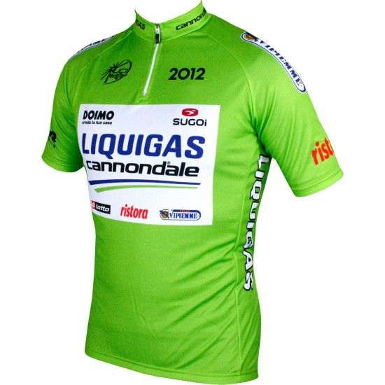 Nalini Liquigas Cannondale - Tour Edition 2012 Short Sleeve Cycling Jersey (Short Zip) - Professional Cycling Team