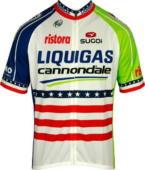 Sugoi Liquigas Cannondale Us American Champ 2012 Professional Cycling Team - Cycling Jersey With Long Zip