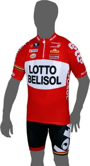Vermarc Lotto Belisol 2014 Short Sleeve Jersey (Short Zip) - Professional Cycling Team