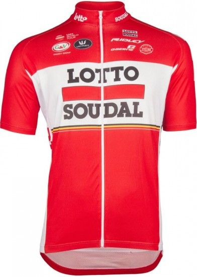 Vermarc Lotto Soudal 2017 Short Sleeve Jersey (Long Zip) - Professional Cycling Team