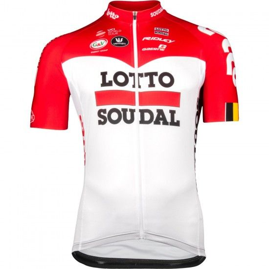 Vermarc Lotto Soudal 2018 Aero Short Sleeve Cycling Jersey (Long Zip) - Professional Cycling Team