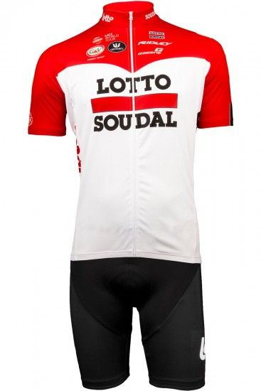 Vermarc Lotto Soudal 2018 Set (Jersey Long Zip + Strap Trousers) - Professional Cycling Team