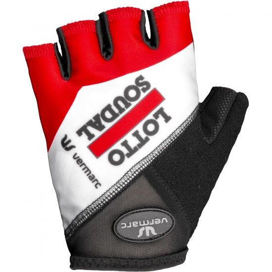 Vermarc Lotto Soudal 2018 Short Finger Cycling Gloves - Professional Cycling Team