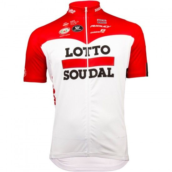 Vermarc Lotto Soudal 2018 Short Sleeve Cycling Jersey (Long Zip) - Professional Cycling Team