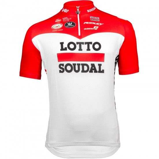 Vermarc Lotto Soudal 2018 Short Sleeve Cycling Jersey (Short Zip) - Professional Cycling Team