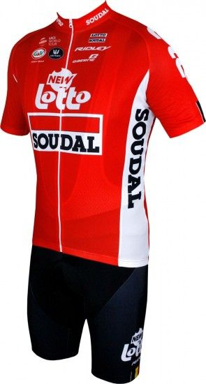 Vermarc Lotto Soudal 2018 Tour Edition Set (Jersey Long Zip + Bib Shorts) - Professional Cycling Team
