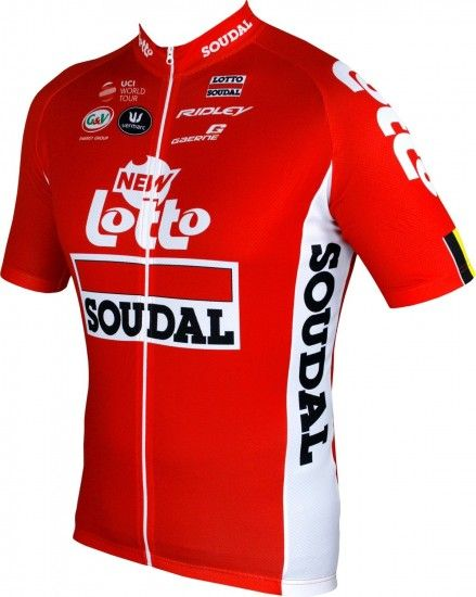 Vermarc Lotto Soudal 2018 Tour Edition Short Sleeve Cycling Jersey (Long Zip) - Professional Cycling Team