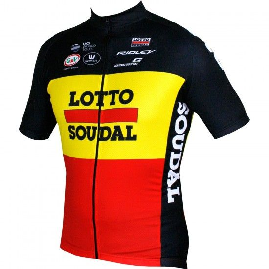 Vermarc Lotto Soudal Belgian Time Trail Champ 18/19 Short Sleeve Cycling Jersey - Professional Cycling Team