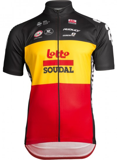 Vermarc Lotto Soudal Belgian Time Trail Champ 2019 Short Sleeve Cycling Jersey - Professional Cycling Team