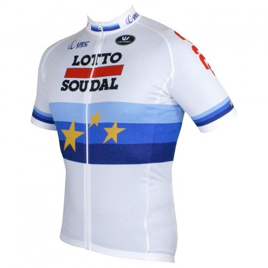 Vermarc Lotto Soudal European Time Trail Champ 2018 Short Sleeve Cycling Jersey - Professional Cycling Team