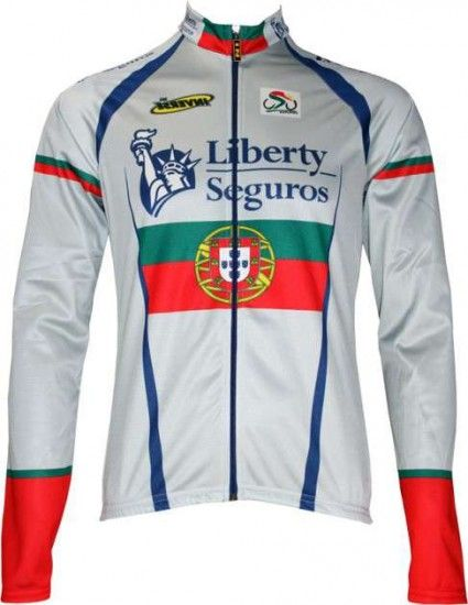 Inverse Liberty Seguros Portuguese Champion Professional Cycling Team - Cycling Long Sleeved Jersey