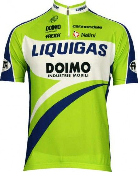 Nalini Liquigas 2010 Professional Cycling Team - Cycling Jersey With Short Zip